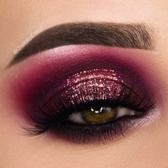 Dramatic plum makeup look. Plum and purple eye shadow with shimmer metallic on t. Augen Makeup, , Dramatic plum makeup look. Plum and purple eye shadow with shimmer metallic on t. Dramatic plum makeup look. Plum and purple eye shadow with shimmer. Plum Makeup, Dramatic Eye Makeup, Eye Makeup Tips, Smokey Eye Makeup, Eyeshadow Makeup, Makeup Ideas, Drugstore Makeup, Metallic Makeup, Glowy Makeup