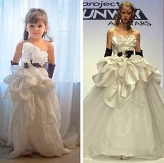 And then Mayhem discovered Project Runway. | This 4-Year-Old And Her Mom Make Incredible Paper Versions Of Famous Dresses