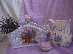 košíček hranatý s levanduľou