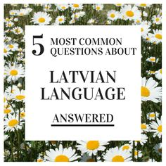 A comprehensive guide to all you ever wanted to know about the Latvian language #IMLD