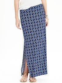 Women's Jersey Side-Slit Maxi Skirts