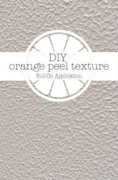 DIY Orange Peel Texture