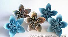 Flores en Origami. Tutorial
