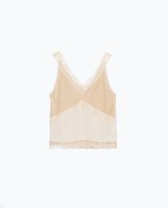 Image 8 of LACE MOLESKIN TOP from Zara