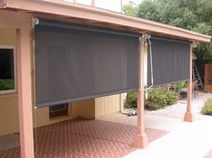 Offering Professional Sales And Installation Of Roll Down Patio Shades  Using Phifer SunTex Exterior Shading Fabric, Available In Both And Sun  Shading.