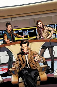 It's an 11th Doctor mash-up with ST:TNG. Stranger things have happened, but I'm not sure what off the top of my head.