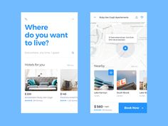 Where do you want to live? The theme in this beautiful design by . Tag in your UI designs or use if you want us to feature your work! Mobile Ui Design, App Ui Design, User Interface Design, Interactive Websites, Interactive Design, App Design Inspiration, Design Ideas, Design Projects, App Map