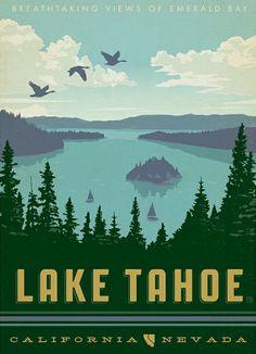 Lake Tahoe Art Print Lake Tahoe Vacation Rentals http://www.sierratahoerentals.com/vacation-rentals.php  Lake Tahoe Nv