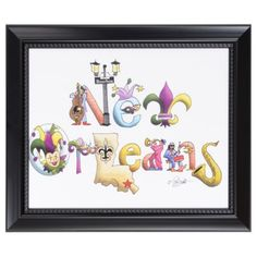 New Orleans Framed Art Print   Kirkland's-This is new and fun