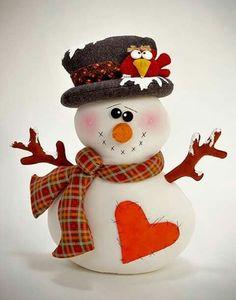 FREEZER USA epattern the snowman par ilmondodellenuvole sur Etsy Mais Clay Ornaments, Felt Christmas Ornaments, Christmas Snowman, Christmas Time, Christmas Decorations, Snowman Crafts, Christmas Projects, Felt Crafts, Holiday Crafts
