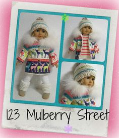 American Girl Doll Clothes - Let It Snow- Coat of Many Colours