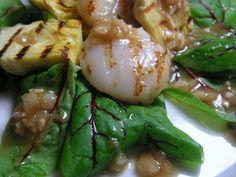 Herkkusuun lautasella-Ruokablogi: Grillattuja kampasimpukoita ja latva-artisokkia