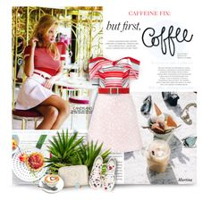 """Caffeine Fix: Coffee Break"" by thewondersoffashion ❤ liked on Polyvore featuring Elite, Coast, House of Holland, Carolina Herrera, Anya Hindmarch and Uncommon Matters"