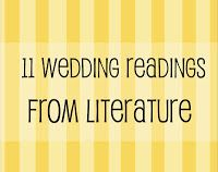 Wedding Readings From Books, Literature & Poetry - I love inspirational quotes - just thought of putting the short ones all around the wedding.