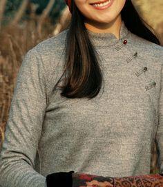Cheongsam Style Cashmere Shirt