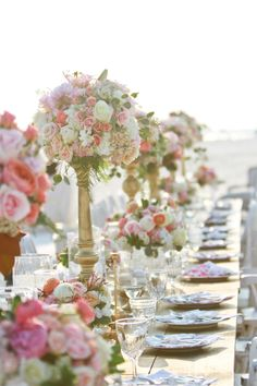 Gilded Centerpieces (love the colors of this arrangement, perhaps cut the extra greens out)