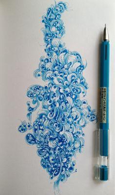 By Gentian Osman. Done with a Muji Gel Pen in a Stillman & Birn Epsilon Sketchbook.