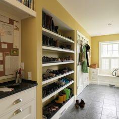 Wow!  Awesome mud room!
