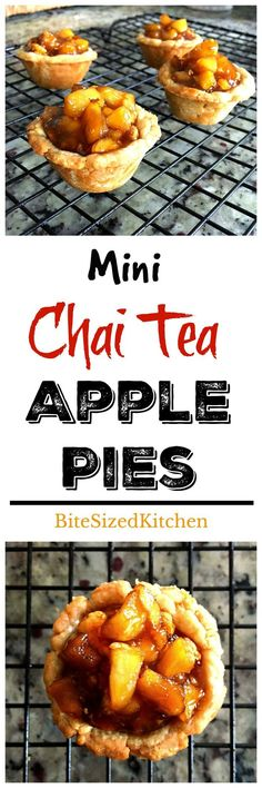Mini Chai Tea Apple Pies perfect bite sized mini dessert for any party! Easy and freezer friendly!