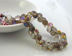 Mystic champagne quartz faceted onion briolette beads by LushRocks, $10.00