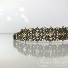 Lulu's Lacy Bracelet Beading Tutorial, beading pattern bracelet, easy beading tutorial and pattern, beading tutorial bracelet