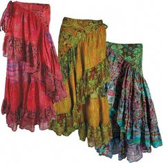 Floral Gypsy Wrap Skirt.