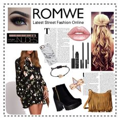 """Romwe❤️"" by robbieandhunter on Polyvore featuring Scully, NARS Cosmetics, Marc by Marc Jacobs, Charlotte Russe, Lime Crime and Casetify"