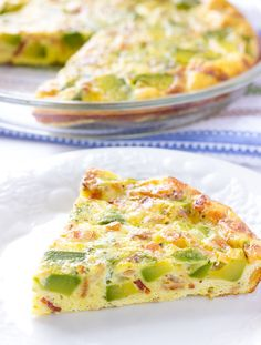 Avocado Bacon Crustless Quiche - an easy, healthy recipe for breakfast, lunch, or dinner.