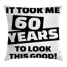 "Ambesonne Slogan Party Quote Square Pillow Cover Size: 18"" x 18"""