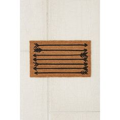 4040 Locust Arrows Doormat ($29) ❤ liked on Polyvore featuring home, outdoors, outdoor decor, black, modern door mat, urban outfitters, black doormat, modern doormat and coir door mats