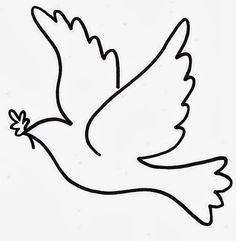 printable for kids free - visit my website for More - kids coloring pages free printable, printable kindergarten worksheets, free printables for kids education, craft for toddlers easy, coloring pages for kids free printable learning Dove Drawing, Wool Applique Patterns, Xmas Cross Stitch, Peace Dove, Quilling Patterns, Sunday School Crafts, Scroll Saw Patterns, Bible Crafts, Bird Drawings