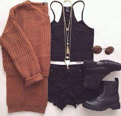 Earth tone knit sweater