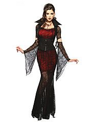 Cosplay+Costumes/Party+Costumes+Vampires+Halloween+Red+&+Black+Lace+Spandex+/+Terylene+Skirt+/+Sleeves+/+Belt+/+Necklace+–+CAD+$+92.27