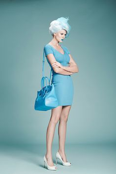 Shades of Blue / 12mag.net by Diliana Florentin, via Behance