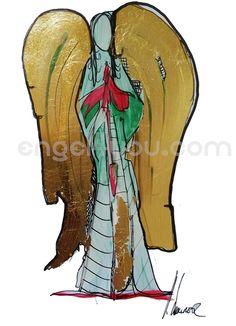 Schutzengel Unikat, handsigniert, ca 21 x 29 cm, tlw blattgold veredelt, nähere Informationen auf engel4you.com Disney Characters, Fictional Characters, Deco, Disney Princess, Art, Gold Leaf, Guardian Angels, Art Background, Kunst