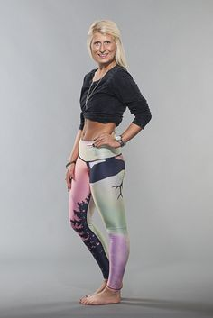 Northern Lights Hot Pants (Teeki) from Superfun Yoga Pants. $72 + tax and shipping as applicable.
