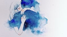 Shared by arts & movies. Find images and videos about love, art and blue on We Heart It - the app to get lost in what you love. Sad Art, Aesthetic Drawing, Couple Art, Illustration Artists, Nocturne, Manga, Ciel, Art Inspo, Amazing Art
