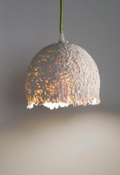 Paper Clay, White Ceiling, Ceiling Lamp, Pendant Lighting, Chandelier, Ceramic Light, Contemporary Ceramics, White Porcelain, Porcelain Lamps