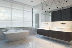 32 White Marble Bath