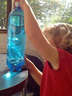 Creer une méduse - visuel pour les touts petits / interaction air eau pour les plus grands