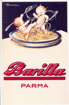 postcard - pasta - adv - 1931 - by sonobugiardo