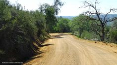 Unpaved portion of Parkfield-Coalinga Road near Parkfield, CA