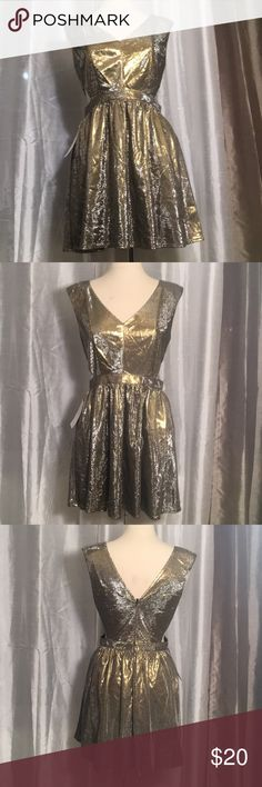 JEALOUS TOMATO DAZZLING DRESS Beautiful  gold shimmering dress with open sides. It's tricky when you see it it though, it look silver. It's really cute Dresses