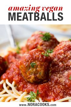 Spaghetti and Easy Vegan Meatballs is a comfort food classic. This simple vegan dinner is the perfect recipe to have in your back pocket for a busy weeknight. Quick and easy, these vegan chickpea meat Easy Vegan Dinner, Dinner Recipes Easy Quick, Vegan Dinner Recipes, Vegan Dinners, Italian Recipes, Whole Food Recipes, Vegetarian Recipes, Cooking Recipes, Vegan Recipes Kid Friendly