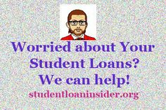www.studentloaninsider.org : A student loan representative helping your simplify your loans one topic at a time