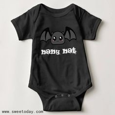 Shop battycharms -baby bat baby bodysuit created by battycharms. Personalize it with photos & text or purchase as is! Gothic Baby Clothes, Cute Baby Clothes, Halloween Baby Clothes, Babies Clothes, Halloween Costumes, Punk Baby, Goth Baby, Baby Bats, Toddler Fashion