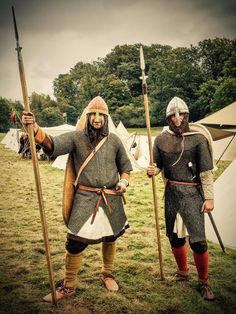 Two norman soldiers from Comthurey Alpinum / Franco Flemish Contingent. Hastings reenactment 2016