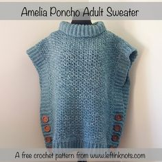 Amelia Poncho Adult Sweater