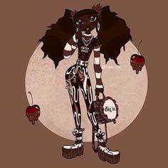 Creepy Drawings, Book Names, Chibi, Black Forest, Black Girls, Character Design, Felt, Fashion Drawings, Strawberry Shortcake
