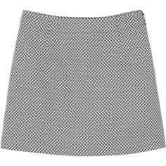Tracy jacquard skirt ($38) ❤ liked on Polyvore featuring skirts, mini skirts, bottoms, short white skirt, stretchy skirts, mini skirt, white stretch skirt and monki